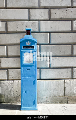 Public police post in the city of London, UK - Stock Photo