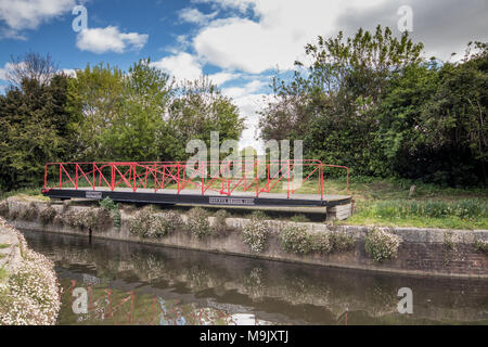 Canal lock at Chichester Ship Canal, Chichester, West Sussex, UK - Stock Photo