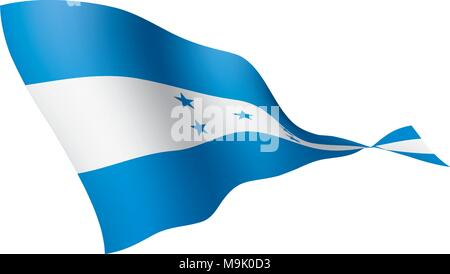 Honduras flag, vector illustration - Stock Photo