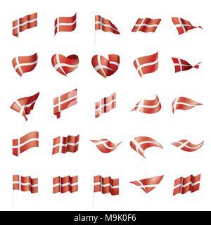 Denmark flag, vector illustration - Stock Photo