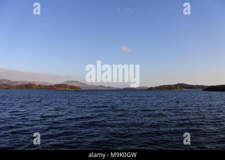 View south along Loch Lomond, Scotland from Luss - Stock Photo