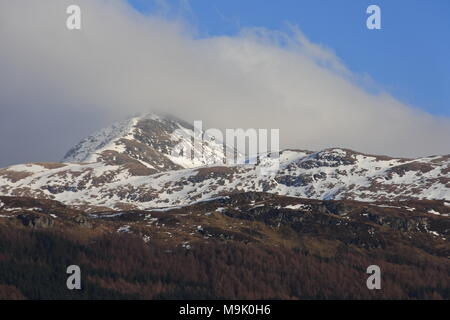View of Ben Lomond from Tarbet, Argyll and Bute, Scotland - Stock Photo