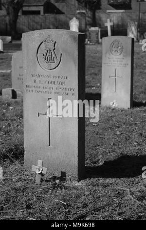 Graves in Manor Road Cemetery, Scarborough