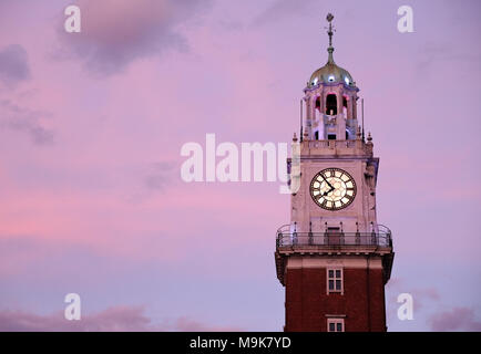 The Torre Monumental clocktower in at the Retiro neighborhood in Buenos Aires, Argetina. - Stock Photo