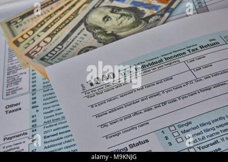 Us Tax Form 1040 Stock Photo 175827814 Alamy