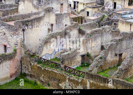 Archeological site of the Ancient City of Herculaneum, Campania, Italy - Stock Photo
