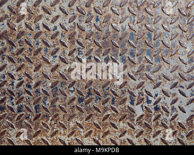 Weathered and rusty non-slip textured steel background - Stock Photo