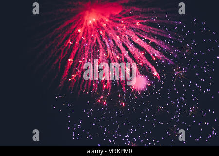 Fireworks on the beach - Stock Photo