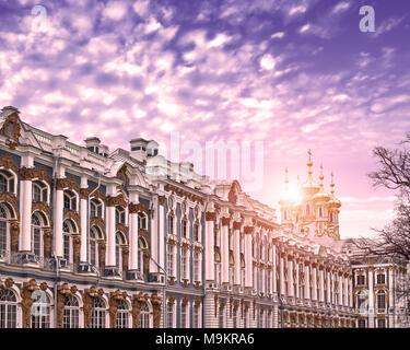 Catherine palace in Tsarskoye Selo , Pushkin, Saint Petersburg - Stock Photo