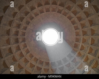 Vault of the Pantheon, Rome, Italy - Stock Photo