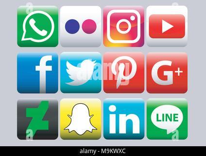 vector design of social media icon pack