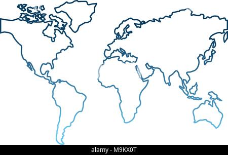 world map continents global image - Stock Photo