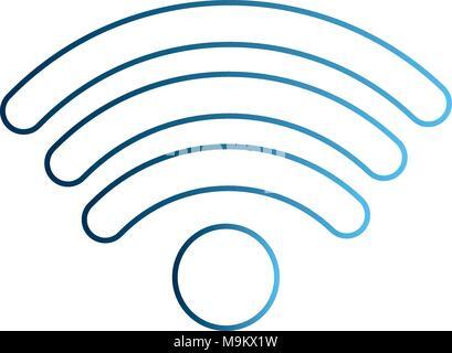 wifi internet connection digital signal - Stock Photo