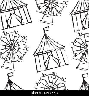 carnival funfair festive pattern - Stock Photo