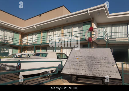 National Civil Rights Museum located in the old Lorraine Motel, site of the Martin Luther King, Jr assassination, in Memphis, Tennessee.