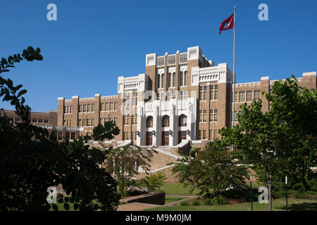 Little Rock Central High School, site of forced desegregation during the Civil Rights Movement, Little Rock, Arkansas, USA - Stock Photo