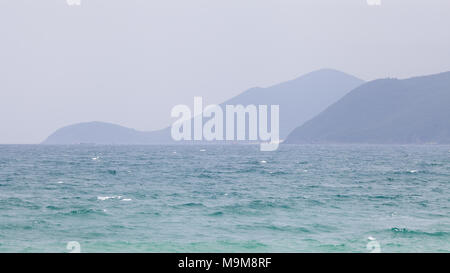 South China Sea, view from Nha Trang, Vietnam - Stock Photo