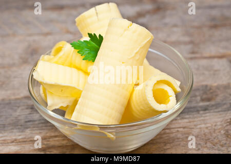 butter in a glass dish - Stock Photo