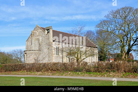 A view of the parish church of St Nicholas from the south-west at Dilham, Norfolk, England, United Kingdom, Europe. - Stock Photo
