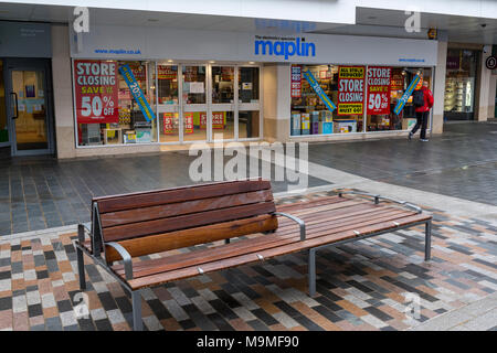 The marlins high street chain of electrical stores closing down. Victim of online sales and Brexit. High street shops losing money and mis-managed. - Stock Photo