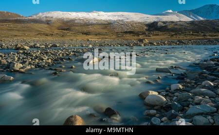 Tsagaan-gol, White River, Altai mountains, Mongolia - Stock Photo