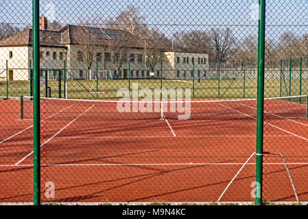 tennis court without a player - Stock Photo