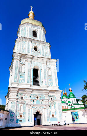 KIEV, UNKRAINE - JUNE 8, 2012: View of Saint Sophia Cathedral bell tower in Kyiv - Stock Photo