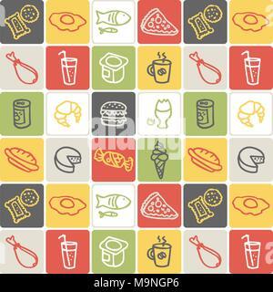 Hand Drawn Icons Set - Food 2 - Stock Photo