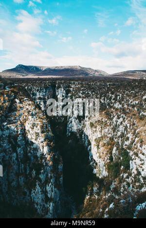 Beautiful landscape of Gorges du Verdon in south France. - Stock Photo