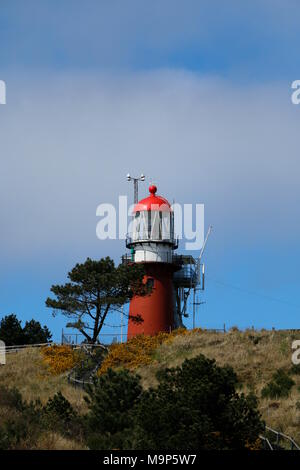 Lighthouse on top of a dune in East Vlieland - Stock Photo