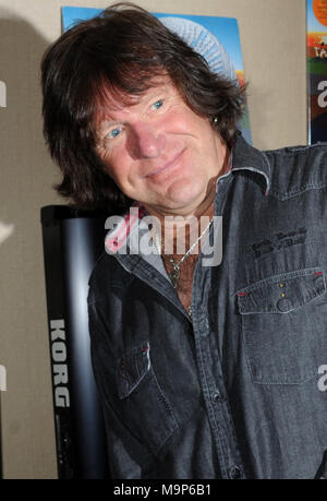 NEW YORK, NY - 2012: Keith Emerson, the flamboyant, English prog-rock pioneer who rose to fame as the keyboardist for supergroup Emerson, Lake & Palmer in the Õ70s, died in Santa Monica, Calif. on Thursday at age 71.Orig Pix taken on 2012 in New York City  People:  Keith Emerson - Stock Photo