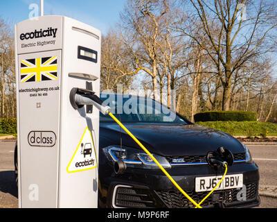 Ecotricity Vehicle recharging, Green Park Business Park, Reading, Berkshire, England, UK. - Stock Photo