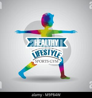 healthy lifestyle sport gym - Stock Photo