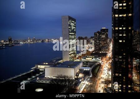 New York, USA. 27th Mar, 2018. 27 March 2018, USA, New York: Maas visits the United Nations. Credit: Kay Nietfeld/dpa/Alamy Live News - Stock Photo