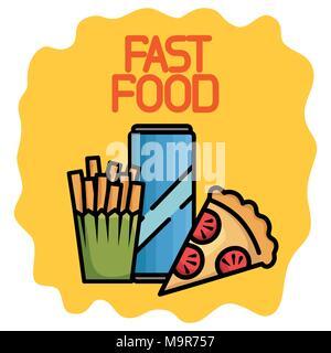 fast food set icons - Stock Photo