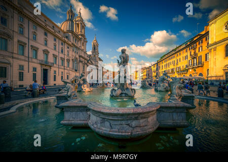 Europa, Italien, Rom, Platz, Piazza Navona - Stock Photo