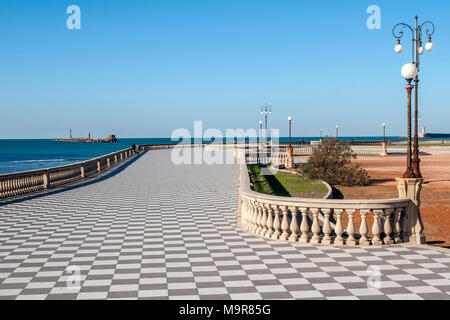 The mascagni terrace terrazza mascagni livorno city tuscany stock