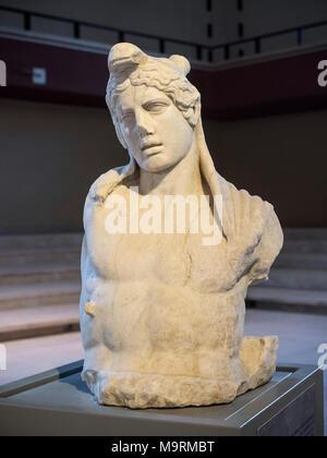 Nemi. Lazio. Italy. Roman marble sculpture of Acteon (Actaeon) from Lake Albano, Museo delle navi romane di Nemi. (Museum of Ancient Roman Ships)  Rom - Stock Photo
