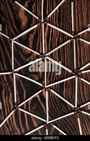 Match sticks with brown heads - Stock Photo