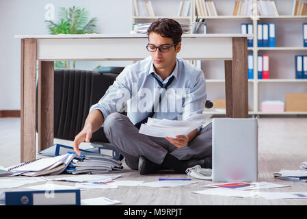 Bankrupt businessman angry in the office floor - Stock Photo
