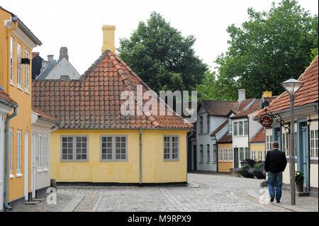 H. C. Andersens Hus (Hans Christian Andersen House) on Hans Jensens straede, Odense, Region of Southern Denmark, Denmark. August 21st 2010, was a Hans - Stock Photo