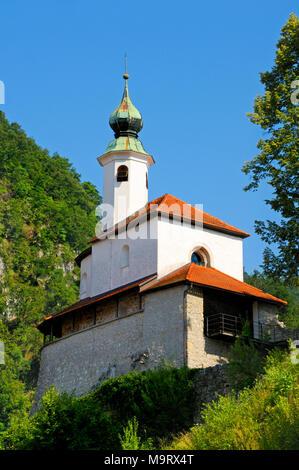 Kamnik, Gorenjska, Slovenia. Mali Grad (Little Castle) - Stock Photo