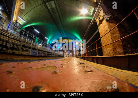 The Dark Arches, Granary Wharf in Leeds, West Yorkshire, England. - Stock Photo