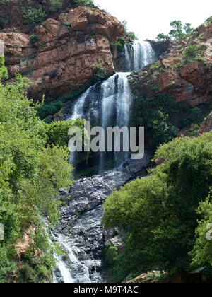 Witpoortjie Falls on the Crocodile River, Walter Sisulu Gardens, South Africa - Stock Photo