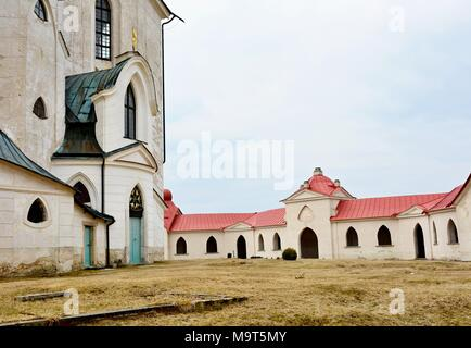 Church of St. John of Nepomuk on Zelena Hora (UNESCO monument). It was built in baroque gothic style and was designed by architect Jan Blazej Santini- - Stock Photo