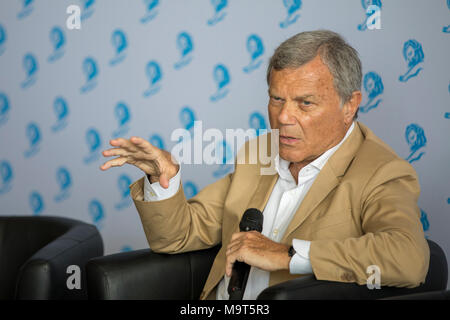 Sir Martin Sorrell, Chairman and Chief Executive Officer of advertising company WPP, attends Cannes Lions Festival, Cannes France June 23 2017 © ifnm - Stock Photo