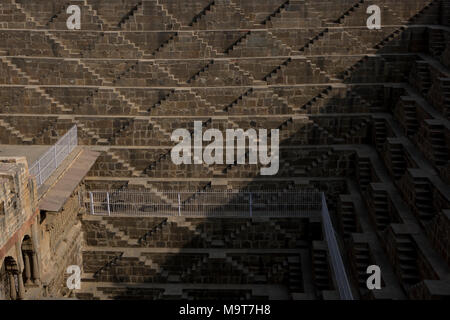 Chand Baori stepwell Dausa - Stock Photo
