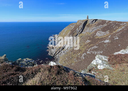 View of the American Monument at the Mull of Oa Islay Inner Hebrides - Stock Photo
