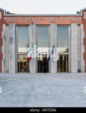 Nemi. Lazio. Italy. Museo delle navi romane di Nemi. - Stock Photo