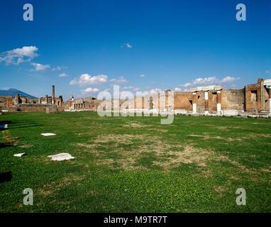 Pompeii. Ancient Roman city. The Forum. Economic, religious and political center of the city. Pompei, Campania, Italy. - Stock Photo